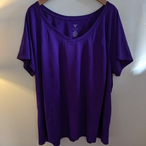 Purple Livi Workout Quick-dry T-shirt